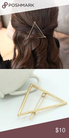 Glam Gold Triangle Boho Gypsy Hair Clip NWT Brand new gold triangle hair clip. Looks great when worn in the back of hair. As seen on Hillary Duff on the tv show Younger. Free People Accessories Hair Accessories