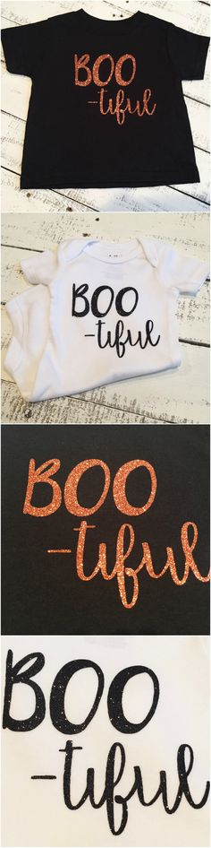 Baby Halloween- Baby Girl Glitter Halloween Bodysuit or Shirt - BOO -TIFUL Girl Tee or Bodysuit - Little Sister Shirt - Baby Boo    https://www.etsy.com/listing/475817765/baby-halloween-baby-girl-glitter