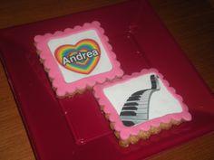 Galletas con foto comestible, para el cumple de Andrea!