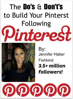 The Do's and Dont's: How to Build Your Pinterest following - Princess Pinky Girl