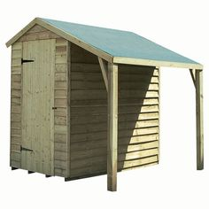 Timberdale shed with lean-to from Tesco Direct | Garden | PHOTO GALLERY | Country Homes and Interiors | Housetohome.co.uk