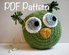 PATTERN: Fishy Feathers Appliques easy crochet PDF por swellamy