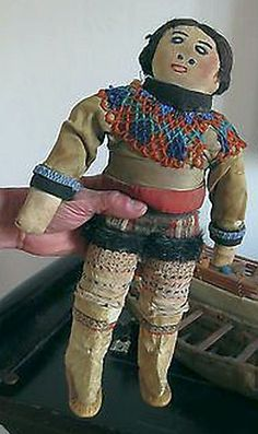 Old Greenland Inuit Doll.