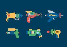 Free Stock vector Laser Gun Vector Illustrations #355833