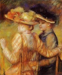 Two Women in a Garden, 1895  Pierre-Auguste Renoir 1841 - 1919