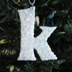 Snow Covered Initial Ornaments