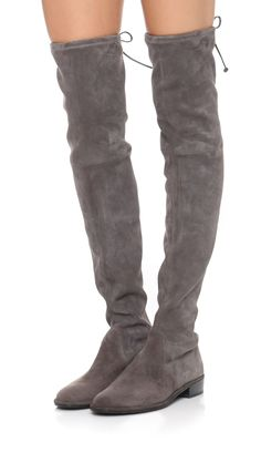 Must have | fashion wishlist | Stuart Weitzman Lowland Over the Knee Boots | grey suede over the knee boots @monstylepin
