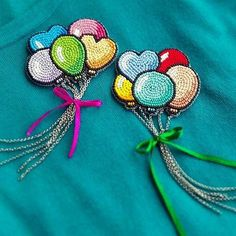 Beaded balloon brooch