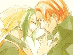 ONE PIECE, Makino with Shanks