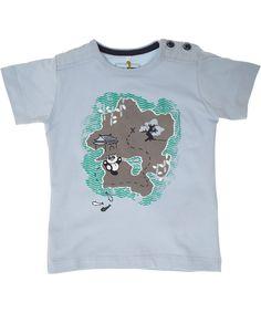 T-shirt gris en coton bio avec île par Name It. name-it.fr.emilea.be