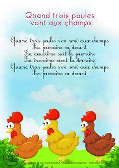 Paroles_Quand trois poules vont aux champs                                                                                                                                                                                 Plus