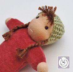 red-with-green-beanie-braid by Polar Bear Creations Dolls, via Flickr