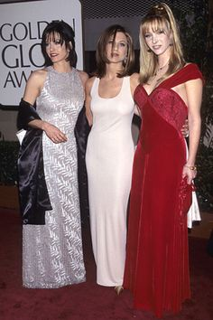Jennifer Aniston's dress--probably Calvin Klein