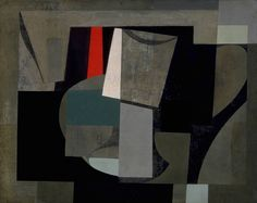 Ben Nicholson (British: 1894-1982), Still life, 1934-36. Oil and gesso on canvas, 41 x 50.6 cm.