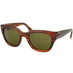 """@Overstock - These timeless cat-eye sunglasses from Ray-Ban combine vintage elements with contemporary style, with green lenses offset by shiny Havana frames. These glasses offer 100-percent protection from UV rays, and include a case and paperwork.http://www.overstock.com/Clothing-Shoes/Ray-Ban-Womens-RB4178-Shiny-Havana-Cat-Eye-Sunglasses/7654536/product.html?CID=214117"