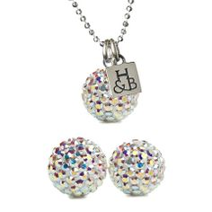 Aurora Borealis Sparkle Earrings and Necklace Set – Hillberg & Berk