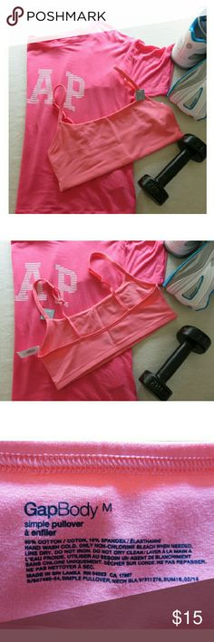 """NWT GAP Coral Lounge, Sleep or Yoga Bra Med/XS New with tags/never worn from GAP Body. Coral pink, great for any skin tone year round! **Available in Extra Small & Medium** """"Simple pullover""""--wear for yoga, pure Barre, working out, or lounge! Goes from the gym to the dog park, or pair as bandeau w/your favorite high waist shorts! Cotton/spandex blend (see tag pics). Bundle with my other workout & ladies/men's items :-) Please ask any questions before buying. Props not included. Smoke & pet…"""