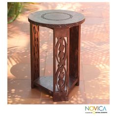 Sese Wood 'I Fear Only God' Accent Table (Ghana) | Overstock.com Shopping - Top Rated Novica Coffee, Sofa & End Tables