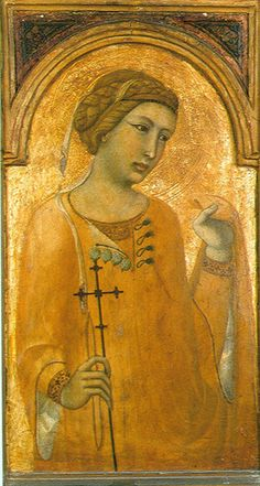 A Female Saint, possibly St. Margaret, Pietro Lorenzetti (1306-1348) Musee de Tesse, Le Mans, France