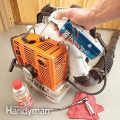 When two-cycle leaf-blowers, string trimmers, chain saws or other small engines won't start, first see if one of these common problems is the cause. Lawn Mower Maintenance, Lawn Mower Repair, Yard Tools, Lawn Equipment, Engine Start, Engine Repair, Small Engine, Home Repairs, Engineering