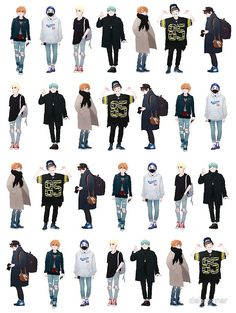 Cartoon Outfits, Anime Outfits, Boy Outfits, Boy Fashion, Korean Fashion, Clothing Sketches, Photography Poses For Men, Art Poses, Art Reference Poses