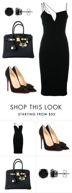 498 by irenka1986 on Polyvore featuring мода, Victoria Beckham, Christian Louboutin, Hermès and BERRICLE