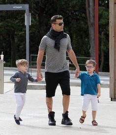 Matteo y Valentino, los hijos de Ricky Martin, en Sidney