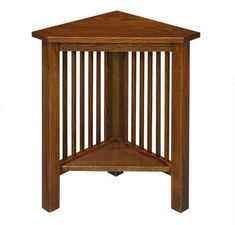 Amish Jr Mission Corner End Table  Craftsman Collection Make the most of a small space with the help of our handcrafted Amish Jr Mission Corner End Table. If you're tight on spa