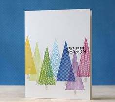 one layer card - reminds me of A Charlie Brown Christmas