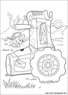 Cars coloring picture