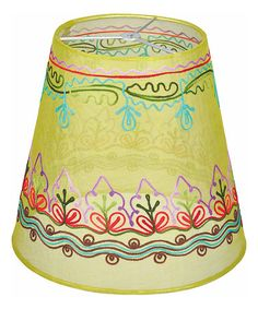 Look at this Organdi Lime Embroidered Lamp Shade by Karma Living