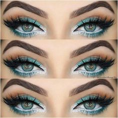 Green and white eyes