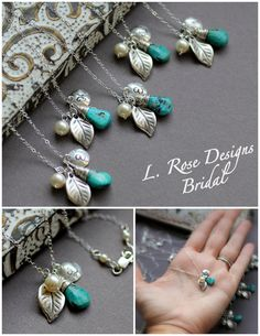 Monogram Bridesmaid Necklaces  GIFT SET of Five  by LRoseDesigns, $190.00