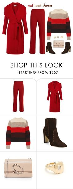 """""""Red and Brown"""" by musicfriend1 ❤ liked on Polyvore featuring MaxMara, Hobbs, rag & bone, Manolo Blahnik, 3.1 Phillip Lim, Shay and Blue Nile"""