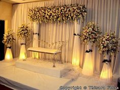 Wedding Table Dcoration White Event Planning 46 Ideas For 2019 Wedding Backdrop Design, Wedding Stage Design, Wedding Hall Decorations, Wedding Reception Backdrop, Marriage Decoration, Engagement Decorations, Wedding Mandap, Backdrop Decorations, Wedding Table