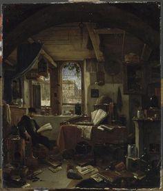 The Alchemist in his Laboratory. Thomas Wijck.
