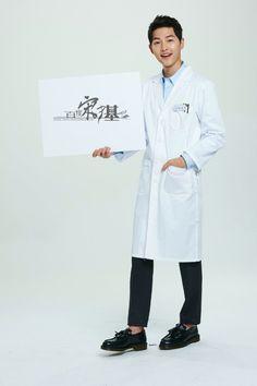 Song Joong Ki in doctor's coat.