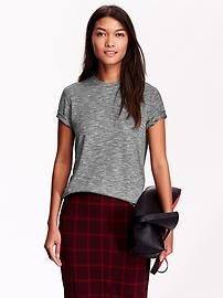 Women's Marled Fitted Tee
