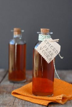 Make your own spiced-pear vodka: http://boulderlocavore.com/2012/10/homemade-spiced-pear-vodka.html