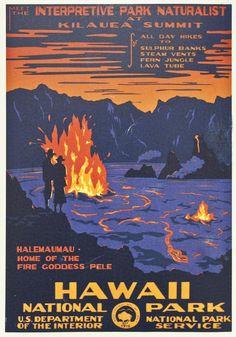 Hawaii Vintage Travel Poster Digital Art