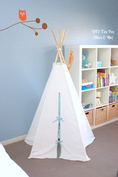 Max and Me: DIY TeePee - Pinterest Challenge #4, love her version