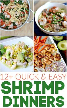 Shrimp Recipes Easy, Fish Recipes, Seafood Recipes, Healthy Dinner Recipes, Delicious Recipes, Seafood Pasta, Yummy Yummy, Easy Family Meals, Easy Meals