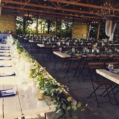 the dream reception   Legacy Hill Farm in Welch, MN // love the same greenery on same table.