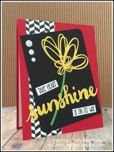 Stampin' Up Sunshine Wishes (Take Heart) by Cindy Brumbaugh of CindyLeeBeeDesigns.com