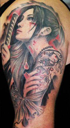 Katana Heroine – Leonidas Lonis Tattoo | Perfect Tattoo Artists – By Leonidas Lonis Tattoo