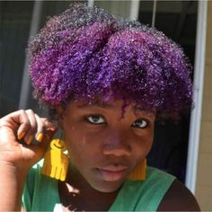 Purple popping curls