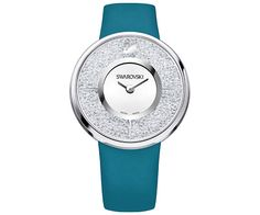 Swarovski Crystalline Green-Blue Montre Blanc Acier inoxidable