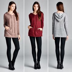T16508 Semi-loose fit long sleeves hoodie tunic top. Drawstring at hoodie. Has waistband. Kangaroo pocket at front. This tunic top is made with lightweight brushed two-toned knit fabric that has a very soft fuzzy texture drapes well and is very warm. This fabric has good stretch.  #cherishusa #cherishapparel #shopcherish #fallfashion #fashionbuyer #boutique #fashion #fashiondiaries #instafashion #instastyle #fashionstyle #ootd #fashionable #fashiongram #fallstyle #clothingbrand #fall2015…