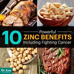 10 Powerful Zinc Benefits, Including Fighting CancerZinc, which is actually a type of metal, is an essential trace element. When you hear zinc in regards to your health, you probably think of it as one . Natural Cancer Cures, Natural Cures, Natural Healing, Healthy Tips, Healthy Eating, Healthy Recipes, Healthy Foods, Clean Eating, Zinc Benefits
