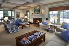 Traditional Living Room with Box ceiling, High ceiling, Hardwood floors, Crown molding, Wall sconce, Carpet